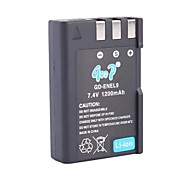 Replacement Battery for Nikon D40/D60/D40X/D5000/D3000 (7.4V,1200mAh)