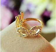 Diamond Golden Mask Fashion Rings