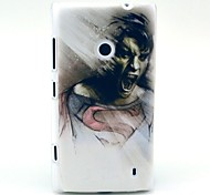 Crazy People Pattern Hard Case for Nokia Lumia N520