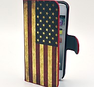 World Cup Retro USA Flag Pattern Hard Case with Card Slot and Matte PC Back Cover for iPhone 5/5S
