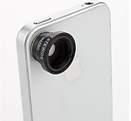 3-in-one Magnetic Macro grandangolare a 180 ° Fish Eye Kit Set per iPhone 5/4/iPad/Cellphones