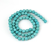 Women's Round Green Turquoise Beads (66pcs)