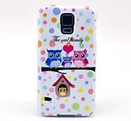 Hübsche Eulen-Familie Cartoon-Muster TPU Soft Case Tasche für Samsung Galaxy i9600 S5