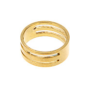 (19mm) Classic DIY Golden Alloy Ring Measuring Circle 1 Pc