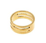 (19mm) Klassische DIY Goldene Legierungs-Ring-Messkreis 1 Pc