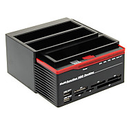 893U2S Multi-function HDD USB 2.0 to SATA Dual-docking Station for 3.5 SATA HDD (Black&Red)