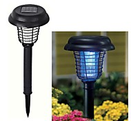 2-LED Solar Plastic Mosquito Zapper Stake Light Garden Path Lighting