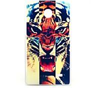 Wütend Tiger Cross Muster Hülle für Nokia X