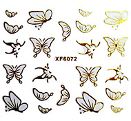 3D Schmetterling Design-Hot Stamping Nail Art Sticker XF-Serie