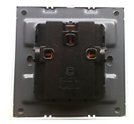 2-Pin And 3-Pin White Panel Plug Socket