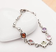 Fashion Multi-shape Colorful Crystal Tennis Bracelet