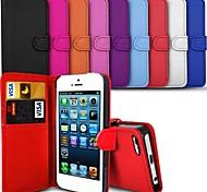 vormor® elegante estuche de cuero de la PU para el iphone 5 / 5s (colores surtidos)