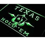 Texas Hold'em Poker Casino Neon Light Sign