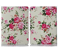 ENKAY Auto Sleep and Wake Up Designed Flower Pattern Protective Case with Stand and Card Slots for iPad Air