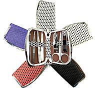 7PCS Kits prego Clippers Manicure Dentro Ponto Manicure Bag (cor aleatória)