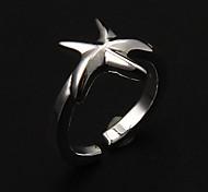 Formato de Estrela do Mar Europeia Anéis banda ajustável feminina (prata) (1 Pc)