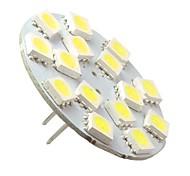 G4 2W 15x5050SMD 120-150LM 6000-6500K lampadina Natural White LED Spot con perni verticali (AC 12V)