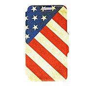 Kinston Nostalgic U.S. Pattern PU Leather Full Body Case with Stand for iPhone 5C