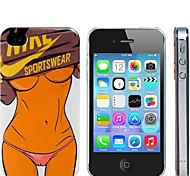 Sexy Sport Girl 3D Print Hard Plastic Case for iPhone 4/4S