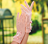 Wrist Length Fingertips Glove Lace Bridal Gloves / Party/ Evening Gloves / General Purposes & Work Gloves Spring / Summer / FallBlack /