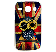 Retro UK Flag with Owl Cartoon Pattern Soft Case for Samsung Galaxy Core I8262