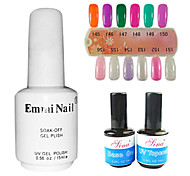 2PCS 14ml UV Top Coat Gel&Base Gel+1PCS 15ml UV Color Gel 12 Assorted Color NO.145-156