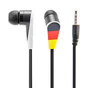 National Flag Pattern In-Ear Headphone with Mic