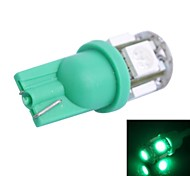 T10 1W 100LM 5×5050 SMD LED Green Light for Car Dashboard / Door / Trunk Lamps (DC 12V,, 1Pcs)