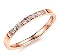 Ms Super Beautiful Fashion Exquisite Set Auger Zircon Titanium Steel Ring