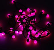 Waterproof 5M 3W 50-LED Purple Light Ball Shaped LED Strip Light (110V)
