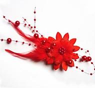 Moda sposa copricapo di piume fiore Tornante