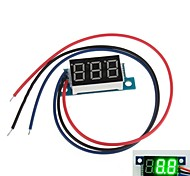"Mini 0.36"" 3 Digital LED Display DC 0V-200V Green Volt Voltage Meter Voltmeter"