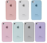 Angibabe 0,45 mm Ultra Thin Colorful Transparent Klar Jelly TPU Soft Case Cover für iPhone 4/4S