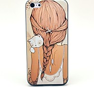 Beautiful Girl Pattern Hard Case for iPhone 5C