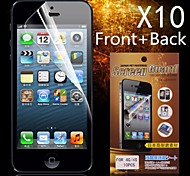 Protectora delantera HD + Back Protector de pantalla para iPhone 4/4S (10PCS)