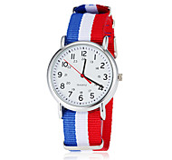 Men's Soccer World Cup Theme Fabric Band Quartz Wrist Watch (Assorted Colors)