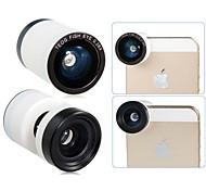 TEOG 3-en-uno de gran angular con 0.28x Ojo De Pez y Macro Lente de fotos para el iPhone 5/5S/5C