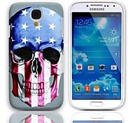 Crânio com o caso Old Glory Design Duramente com protetores de tela de 3-Pack para Samsung Galaxy S4 mini-I9190