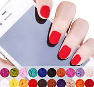 12PCS Velvet Powder Multi-Color 10g Nail Art Decorations(Random Color)
