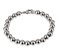 Women's Fashion Simple Beads Stainless Steel Bracelet For Girls