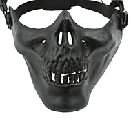 Máscara Terceiro metade do rosto de esqueleto