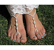 Shixin® Fashion Handmade Pearl Elasticity Barefoot Sandal(1 Pc)