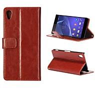 Tapa plegable con estilo del cuero del soporte Crazy Horse para Sony Xperia Z2