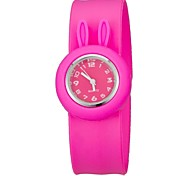 Children's Colorful Bendable Silicone Band Slap Watch