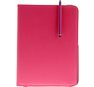 360°Rotation Luxury PU Leather Case+HD Protector+OTG Cable+Stylus Pen for Samsung Galaxy Tab3 P5200/P5210