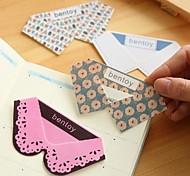 Laço Collar Forma de plástico Bookmarks (cor aleatória)