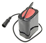 8.4V 5500mAh externo 6 x 18650 Li-ion Battery Pack - Negro