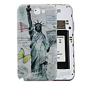 Statua della Libertà Retro Style dura del PC Battery Back Cover per Samsung Galaxy Note 2 N7100