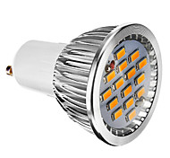 6W GU10 Focos LED 15 SMD 5730 380 lm Blanco Cálido Regulable AC 100-240 V