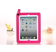 Solide boîtier couleur en silicone avec poignée et stand pour iPad2/3/4